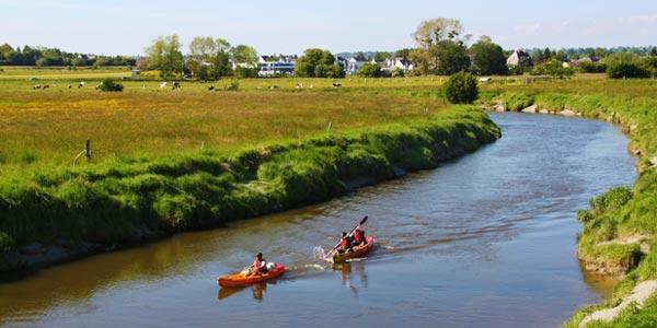 Descente de la Sée en kayak en liberté